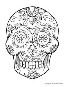 Sugar Skull Coloring Pages Printable Free
