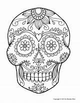 Dead Skeleton Drawing Skull Coloring Sugar Getdrawings sketch template