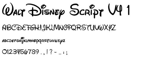Walt Disney Font By Iloveps On Deviantart