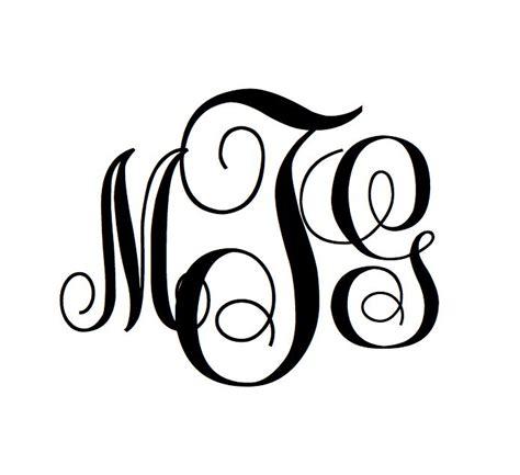 freebie create   swirly monogram