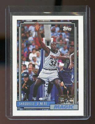 1992-93 Topps Draft Pick #362 Shaquille O'Neal Orlando ...