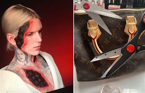 jeffree star destroys louis vuitton bag  halloween
