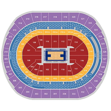 la clippers home schedule   seating chart