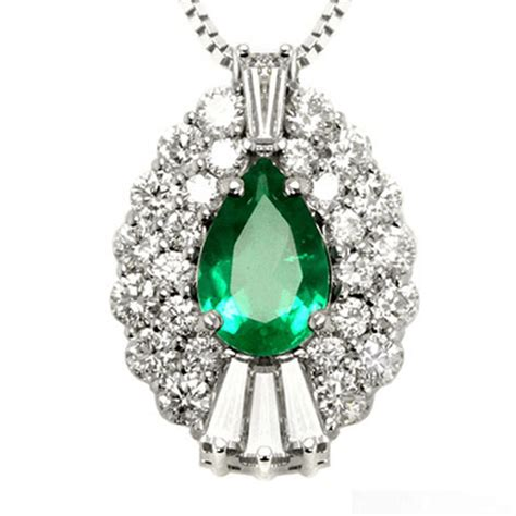 pear shape emerald necklace jewelry designs