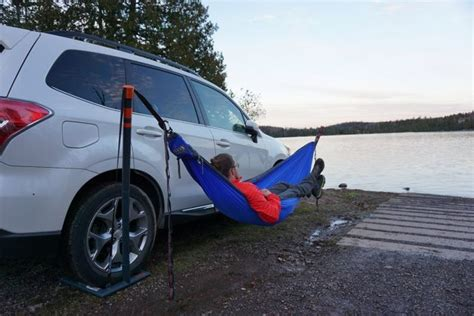 Car Hammocks by Eno Roadie Hammock Stand Lets You Sway Wherever You Park