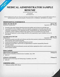 Medical Administrator Resume Resumecompanion Com