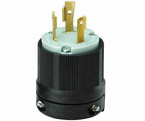 Cooper Wiring L630p Three Wire Grounding Plug  30 Amp