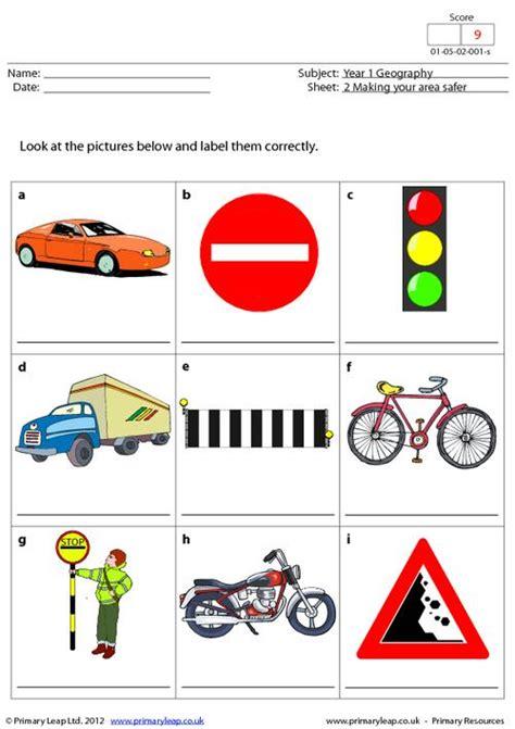 all worksheets 187 road safety worksheets for kindergarten