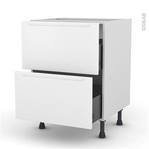 meuble cuisine casserolier meuble de cuisine casserolier pima blanc 2 tiroirs l60 x