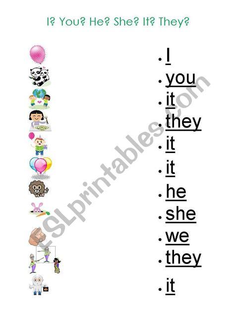 pronoun worksheet for kindergarten pronoun best free