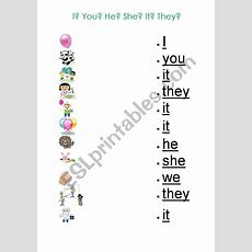 Pronouns Worksheet For Kids  Esl Worksheet By Gizmogwai