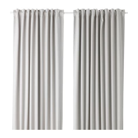 White And Gray Curtains Ikea by Majgull Blackout Curtains 1 Pair Ikea