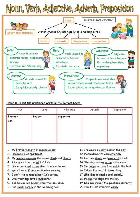 noun adverb  adjective clauses worksheets
