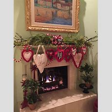 The Chic Technique Valentine's Day Fireplace Mantel Decor