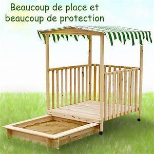 Sable Pour Bac à Sable Gifi : bac sable avec abri en bois avec toit pour enfants ~ Dailycaller-alerts.com Idées de Décoration