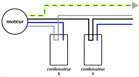 alimentation electrique cuisine couleurs des fils électriques câblage moteur hotte de