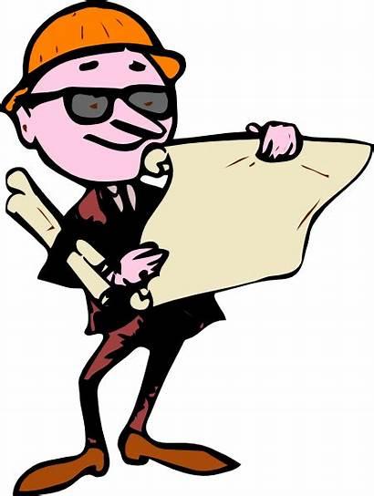 Engineer Cartoon Clip Planning Clipart Plans Site
