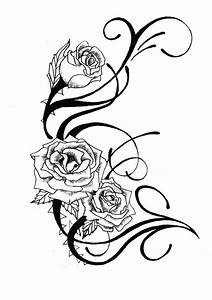 Kissenbezug Schwarz Weiß : rosenranke tattoo bedeutung ideen und vorlagen ~ Lateststills.com Haus und Dekorationen