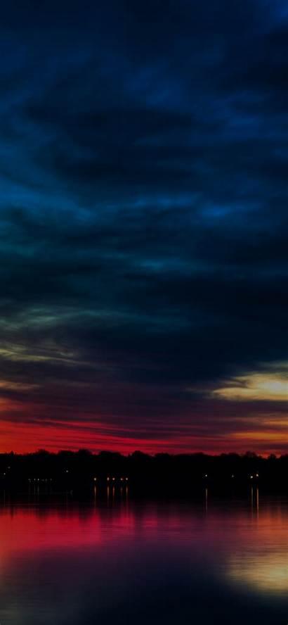 Iphone Dark Nature Sky Wallpapers Rainbow Lake