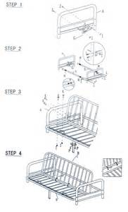 metal futon assembly instructions how to assemble how