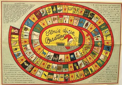 storia di un burattino 19 percorso di 90 caselle il gioco dell oca juego de la oca le
