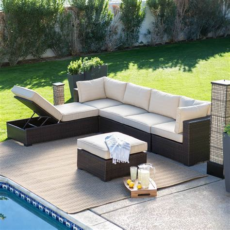 chaise exterieure 25 awesome modern brown all weather outdoor patio sectionals