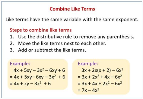 simplify equations solutions examples