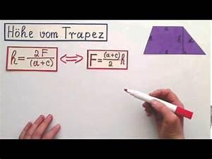 Höhe Berechnen : h he vom trapez berechnen youtube ~ Themetempest.com Abrechnung
