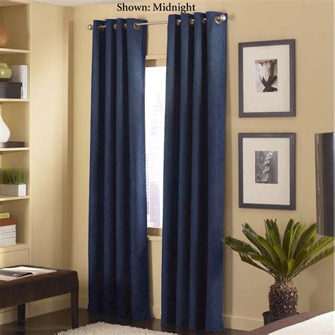 cameron faux suede grommet curtain panels