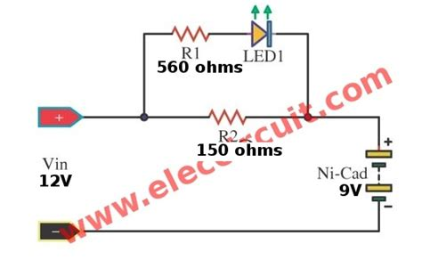Simple Nicad Battery Charger Circuit Little Part