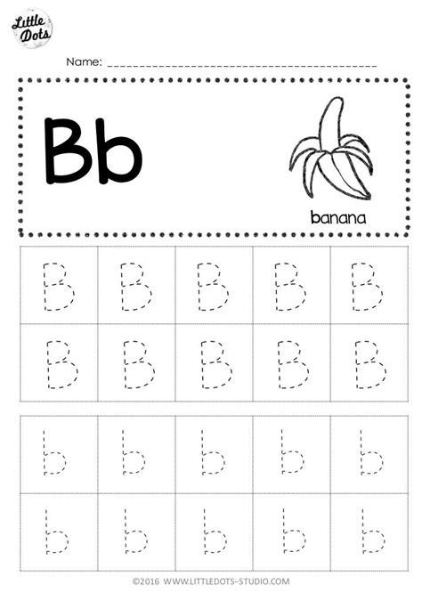 download free letter b tracing worksheet for preschool