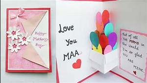DIY Mother's Day Card/Mother's Day Pop up card making/Pop ...