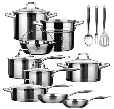 cookware usa induction stainless steel sets skillet safe oven
