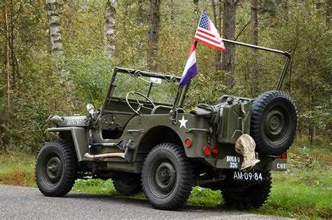 Wallpapers Jeep Willys Mb Flag Cars Army