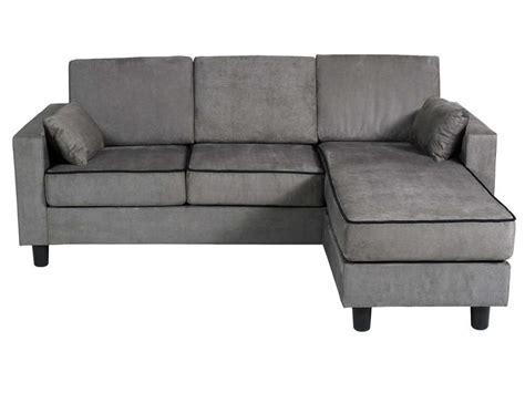 canapé d 39 angle réversible 3 places en tissu logan coloris