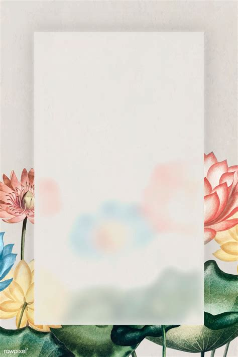 Download premium vector of Blank colorful water lilies ...