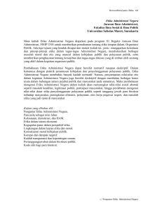 Budaya Birokrasi dan Etika Pelayanan Publik
