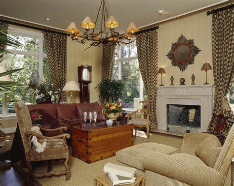 custom family room draperies  interior design