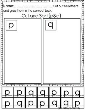 dyslexia worksheets help with b d p and q reversals tpt