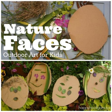 25 flower crafts and activities happy hooligans 685 | Nature Faces Outdoor Art for Kids Happy Hooligans