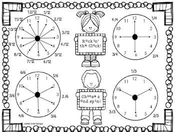 math game rockin  clock fraction  time  wild