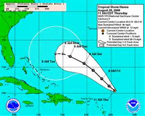 Current Hurricane Tracking Map