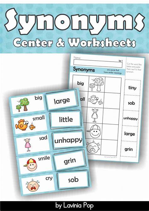 preschool synonyms synonyms freebie in my world 527