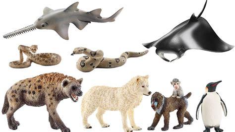 schleich animals figures hyena mandrill wolf pinguin zoo