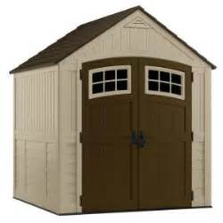 suncast bms7791 sutton 7x7 foot resin storage shed from