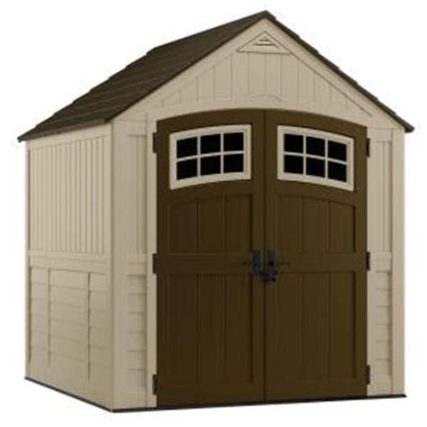 7x7 shed home depot suncast bms7791 sutton 7x7 foot resin storage shed from