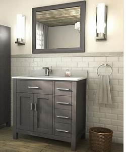 Traditional Bathroom Vanity Kalize 36 French Gray Finish