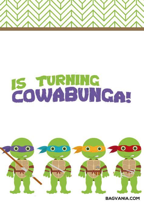 printable ninja turtle birthday party invitations