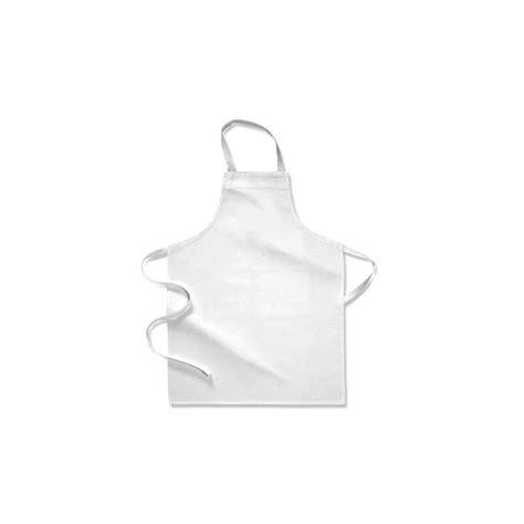 tablier blanc de cuisine tablier de cuisine enfant blanc 80 x 52cm