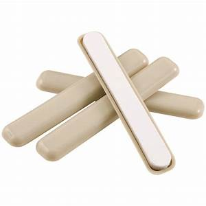 Slipstick 1 1 4 in round caramel brown furniture feet for Rubber furniture feet home depot